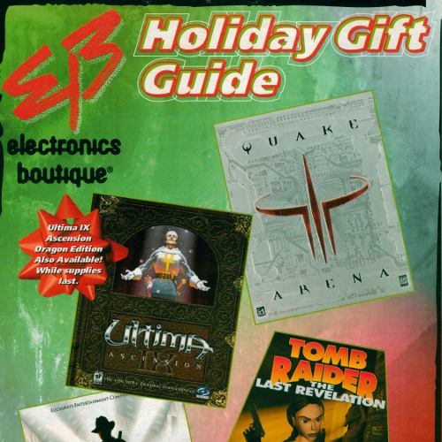 Electronics Boutique Christmas 1999 catalog