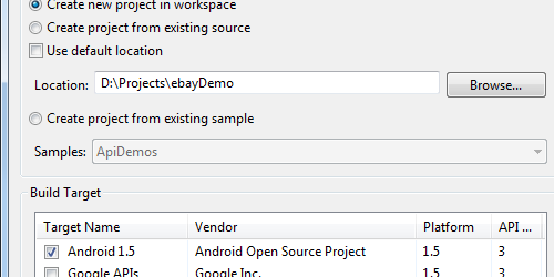 Integrating Android Applications with the eBay API