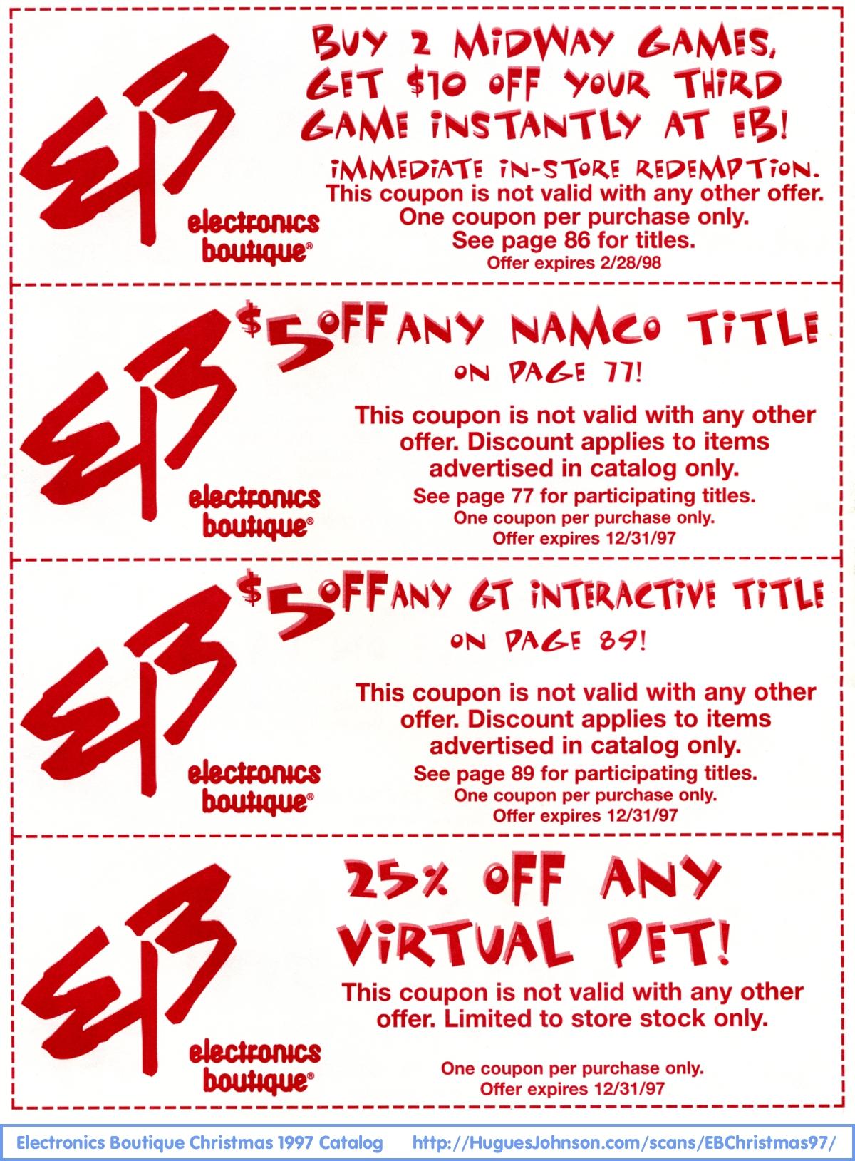 com electronics boutique christmas catalog more coupons back