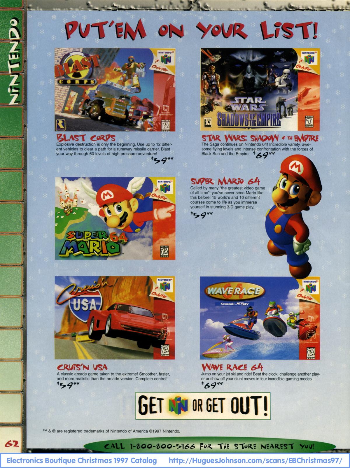 HuguesJohnson.com - Electronics Boutique Christmas 1997 Catalog ...