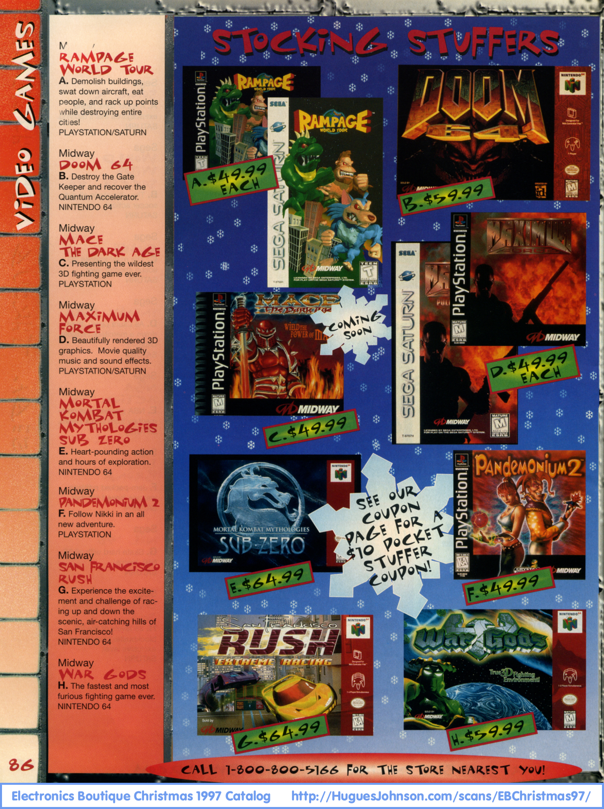 Page 86 - Rampage World Tour, Doom 64, Mace the Dark Age, Maximum