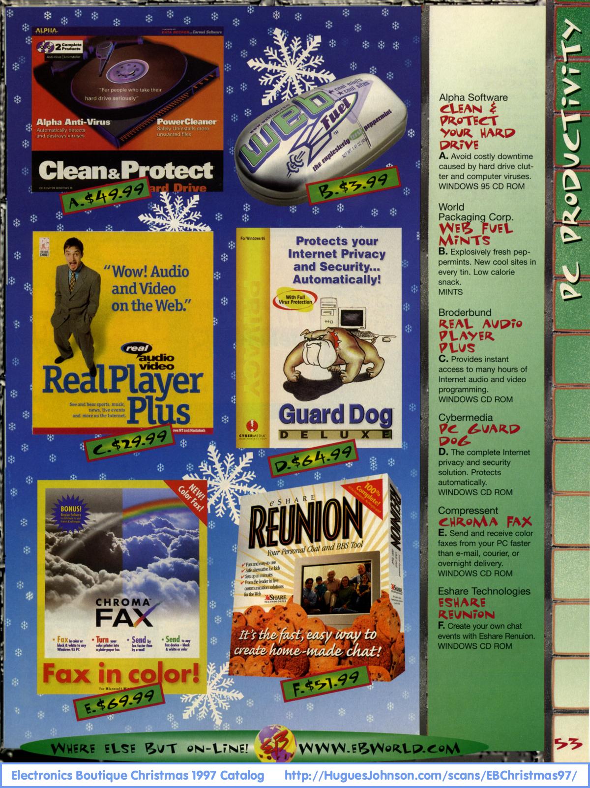 HuguesJohnson com - Electronics Boutique Christmas 1997 Catalog