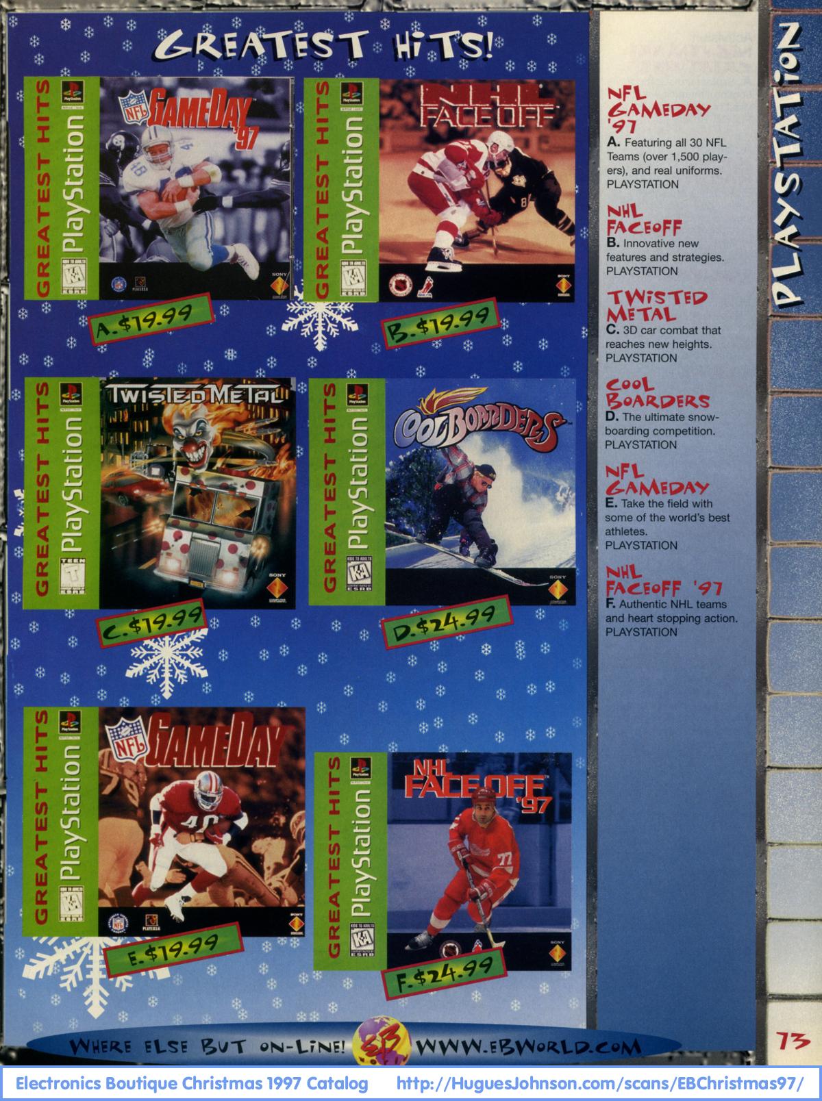 HuguesJohnson.com - Electronics Boutique Christmas 1997 ...